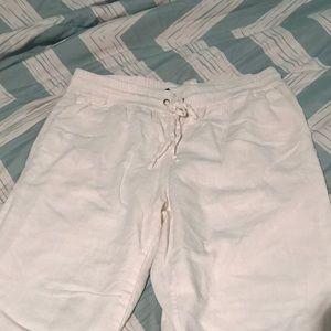 White bohemian beach pants